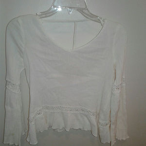 Altar'd State Small Sheer Boho Crop Top